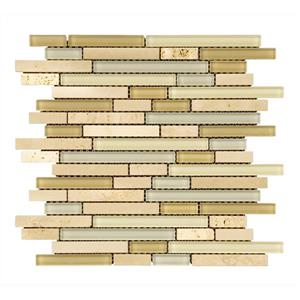 Glass Mosaic Crema Marfil - 12'' x 12'' - 5 sq.ft. /Case