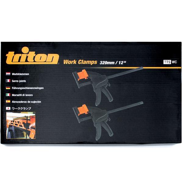 Triton Tools Work Clamps - Plastic - Black - 2 pcs