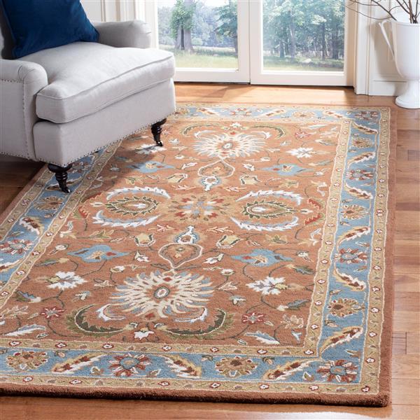 "Safavieh Heritage Decorative Rug - 7' 6"" x 9' 6"" - Brown/Blue"