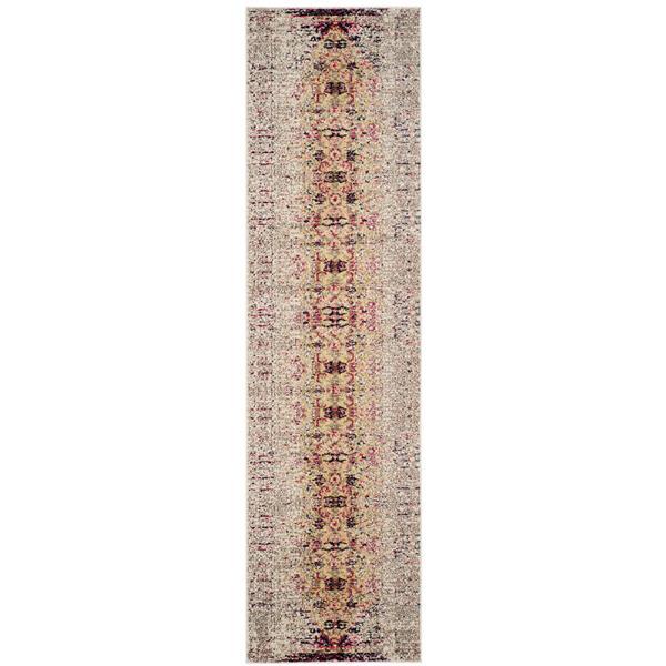 Safavieh Monaco Decorative Rug - 2.2' x 8' - Ivory/Pink