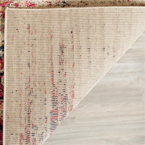 Safavieh Monaco Decorative Rug - 5' x 5' - Ivory/Pink