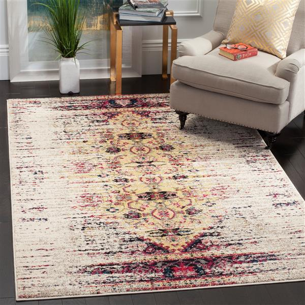 Safavieh Monaco Decorative Rug - 5' x 5' - Ivory/Pink