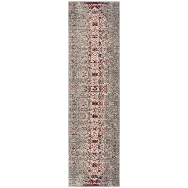 Safavieh Monaco Decorative Rug - 2.2' x 12' - Grey/Ivory