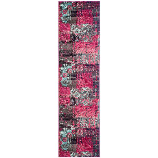Safavieh Monaco Decorative Rug - 2.2' x 8' - Pink/Multi