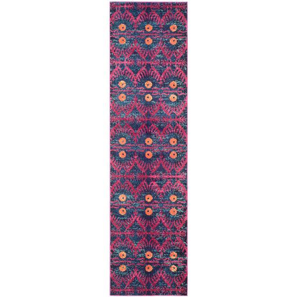 Safavieh Monaco Decorative Rug - 2.2' x 10' - Pink/Multi