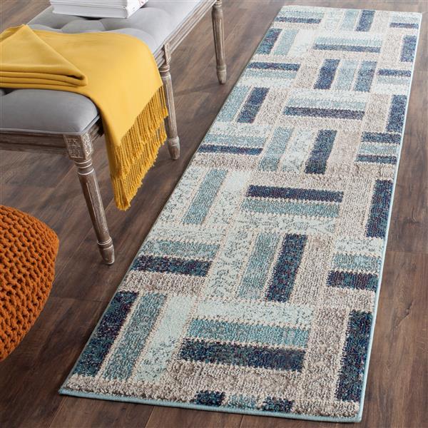 Safavieh Monaco Decorative Rug - 2.2' x 8' - Grey/Blue