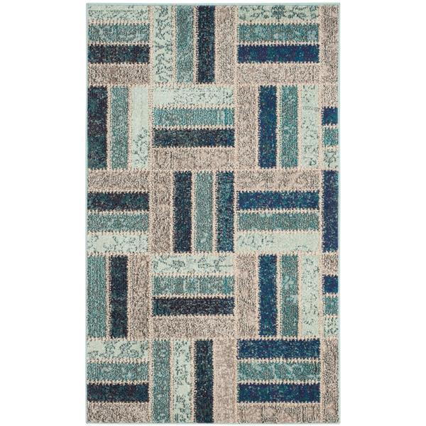Safavieh Monaco Decorative Rug - 3' x 5' - Grey/Blue