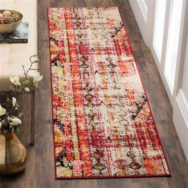 Safavieh Monaco Decorative Rug - 2.2' x 12' - Magenta/Multi