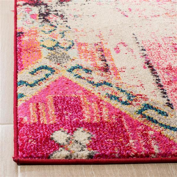 Safavieh Monaco Decorative Rug - 4' x 5.6' - Magenta/Multi
