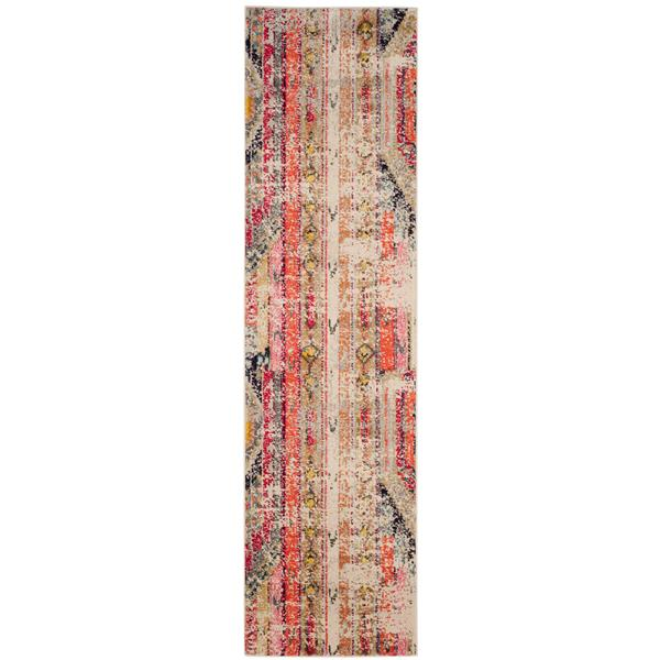 Safavieh Monaco Decorative Rug - 2.2' x 12' - Light Grey/Multi