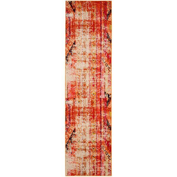 Safavieh Monaco Decorative Rug - 2.2' x 12' - Orange/Multi