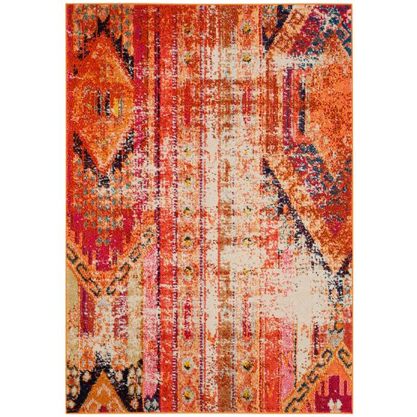 Safavieh Monaco Decorative Rug - 4' x 5.6' - Orange/Multi