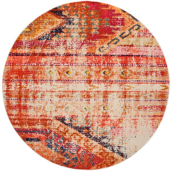 Safavieh Monaco Decorative Rug - 5' x 5' - Orange/Multi