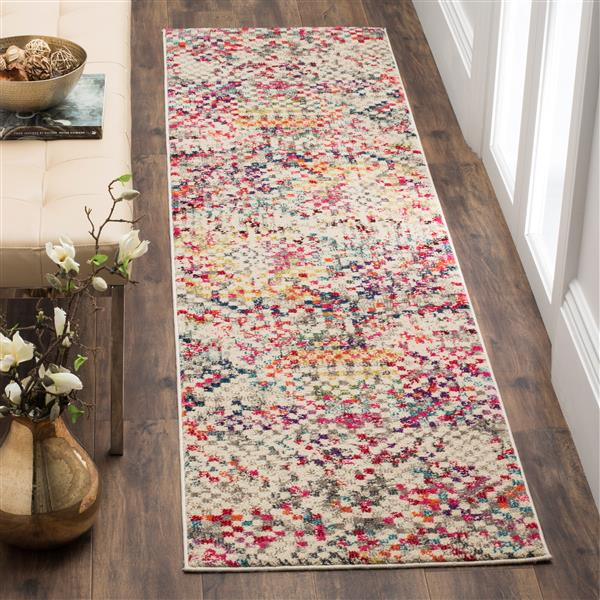 Safavieh Monaco Decorative Rug - 2.2' x 12' - Grey/Multi