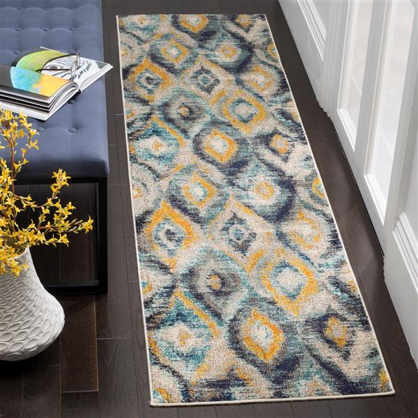 Safavieh Monaco Decorative Rug - 2.2' x 10' - Blue/Multi