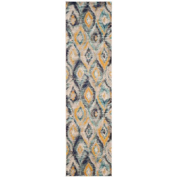 Safavieh Monaco Decorative Rug - 2.2' x 8' - Blue/Multi