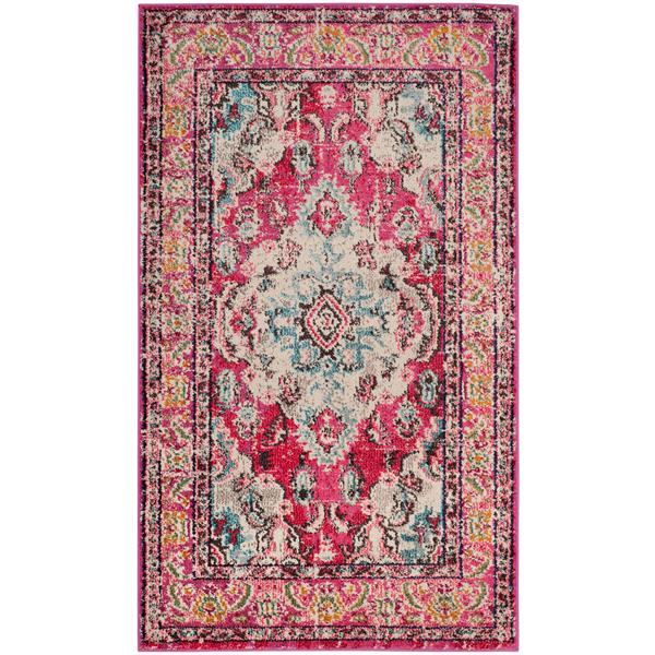 Safavieh Monaco Decorative Rug - 3' x 5' - Pink/Multi