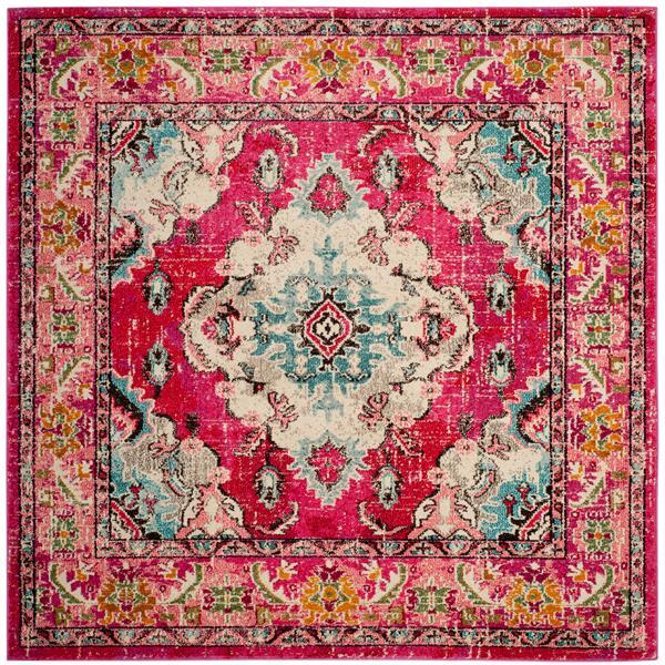 Safavieh Monaco Decorative Rug - 5' x 5' - Pink/Multi