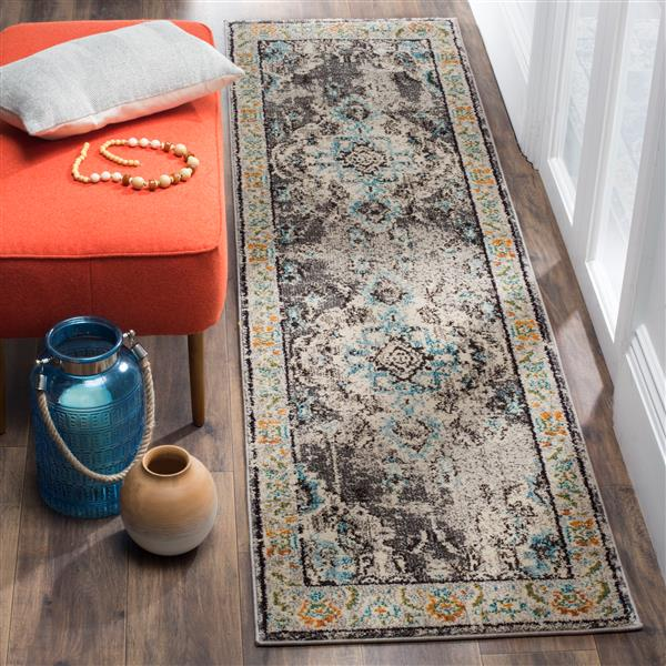 Safavieh Monaco Decorative Rug - 2.2' x 8' - Grey/Light Blue