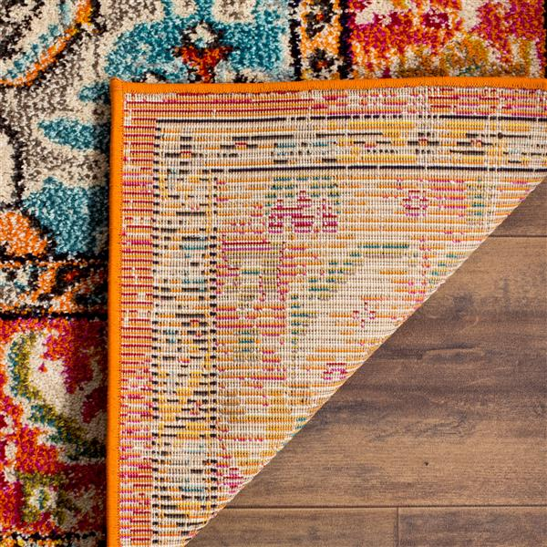 Safavieh Monaco Decorative Rug - 2.2' x 6' - Orange/Light Blue