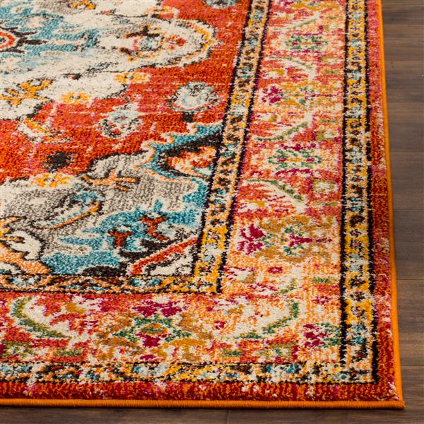 Safavieh Monaco Decorative Rug - 4' x 5.6' - Orange/Light Blue