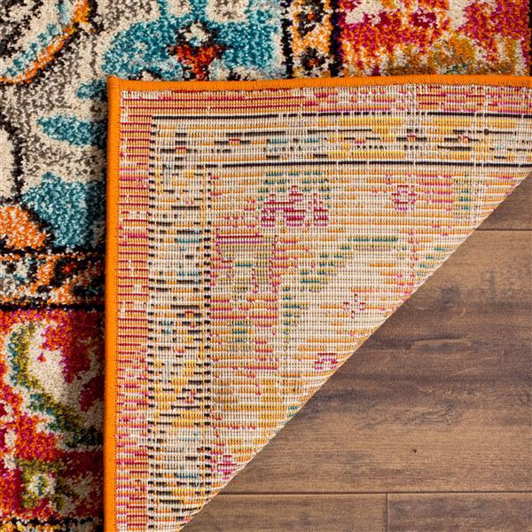Safavieh Monaco Decorative Rug - 5' x 5' - Orange/Light Blue