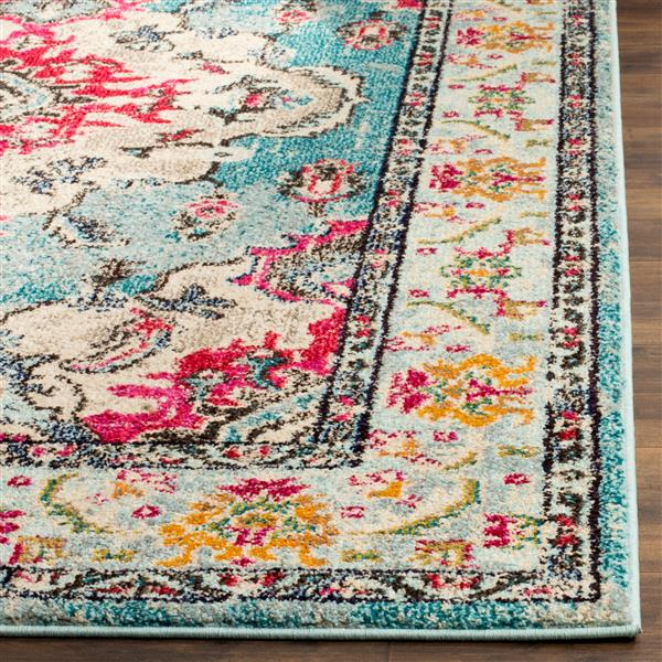 Safavieh Monaco Decorative Rug - 2.2' x 4' - Light Blue/Fuchsia