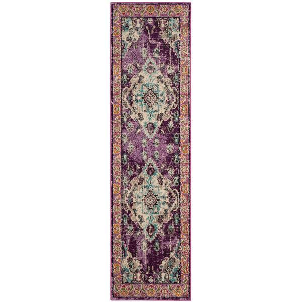 Safavieh Monaco Decorative Rug - 2.2' x 8' - Violet/Light Blue