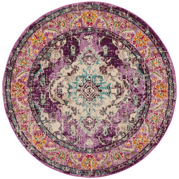 Safavieh Monaco Decorative Rug - 5' x 5' - Violet/Light Blue
