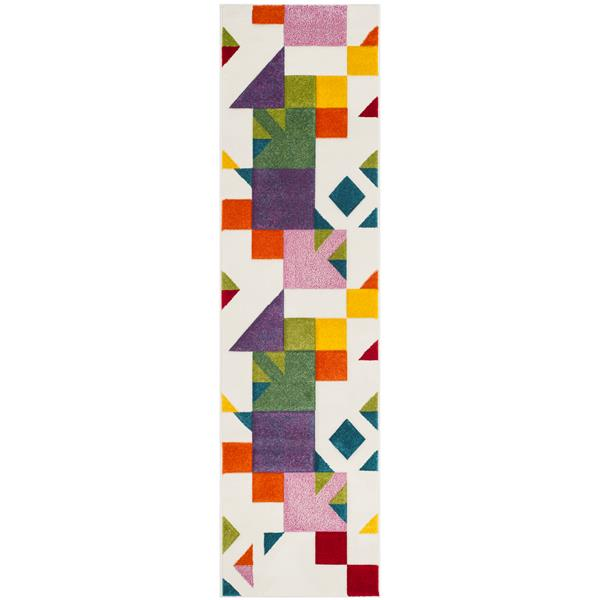 Safavieh Hollywood Decorative Rug - 2.3' x 8' - Ivory/Rose
