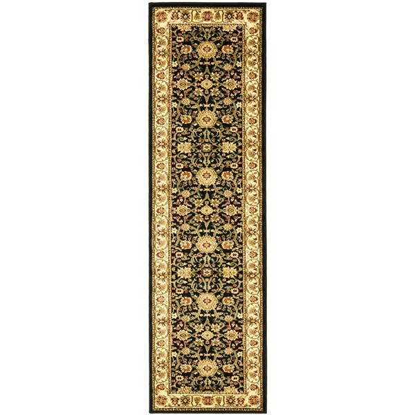 Safavieh Lyndhurst Decorative Rug - 2.3' x 20' - Black/Ivory