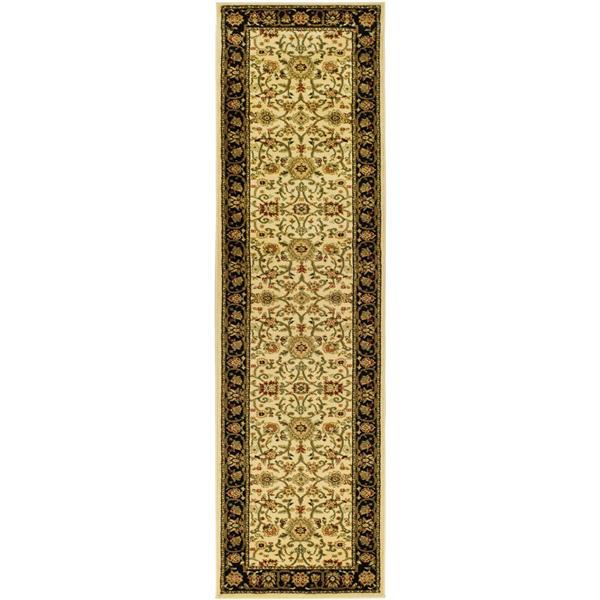 Safavieh Lyndhurst Decorative Rug - 2.3' x 14' - Ivory/Black