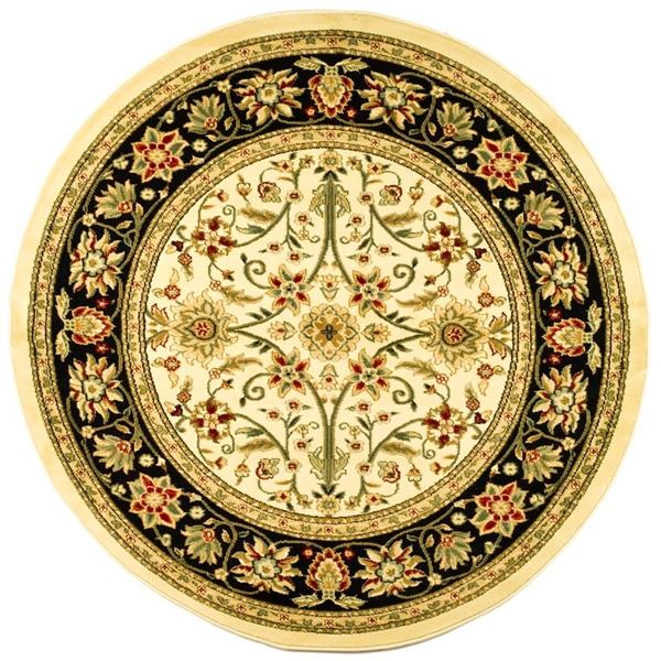 Safavieh Lyndhurst Decorative Rug - 5.3' x 5.3' - Ivory/Black