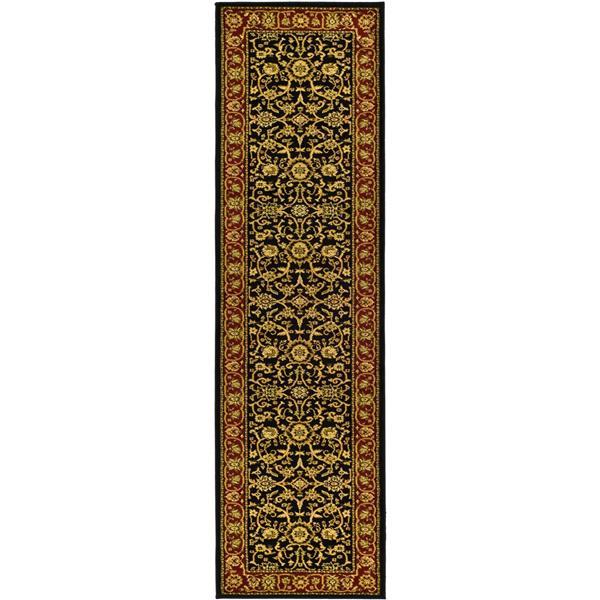 Safavieh Lyndhurst Decorative Rug - 2.3' x 12' - Black/Red