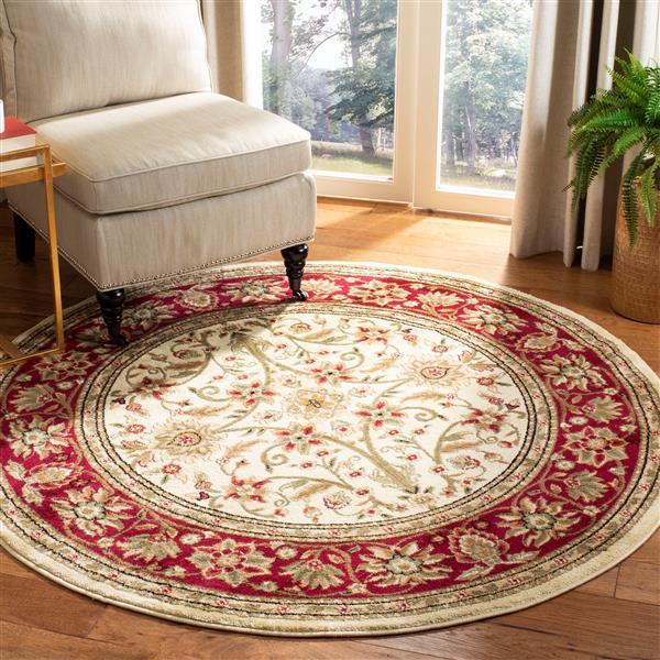 Safavieh Lyndhurst Decorative Rug - 5.3' x 5.3' - Ivory/Red