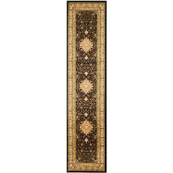 Safavieh Lyndhurst Decorative Rug - 2.3' x 16' - Black/Ivory