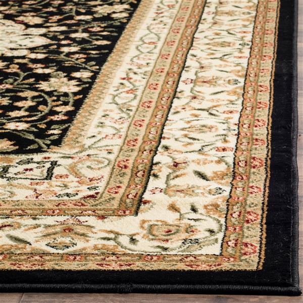 Safavieh Lyndhurst Decorative Rug - 3.3' x 5.3' - Black/Ivory