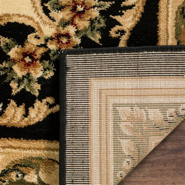 Safavieh Lyndhurst Decorative Rug - 2.3' x 8' - Black/Ivory