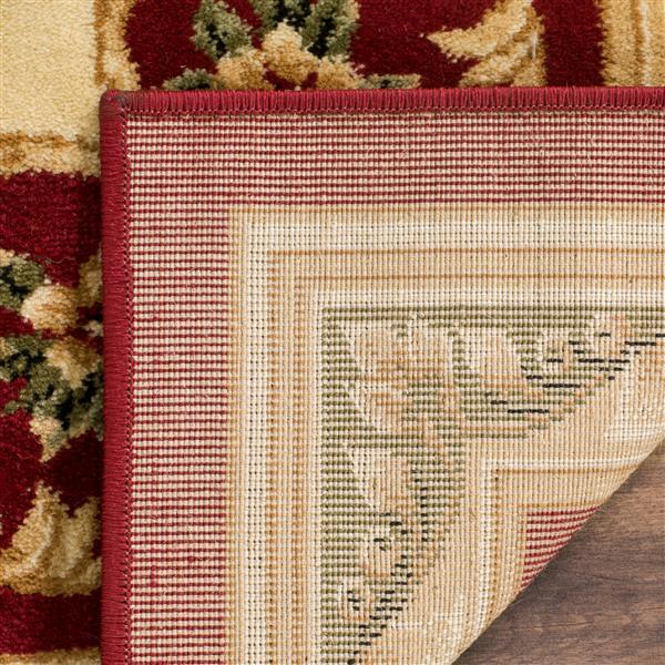 Safavieh Lyndhurst Decorative Rug - 3.3' x 5.3' - Red/Ivory