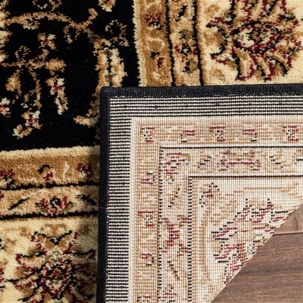 Safavieh Lyndhurst Decorative Rug - 3.3' x 5.3' - Black/Ivory