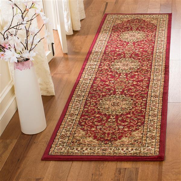 Safavieh Lyndhurst Decorative Rug - 2.3' x 14' - Red/Ivory