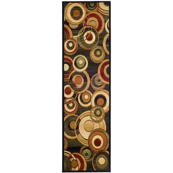 Safavieh Lyndhurst Decorative Rug - 2.3' x 12' - Black/Multi