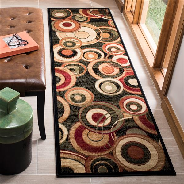 Safavieh Lyndhurst Decorative Rug - 2.3' x 14' - Black/Multi
