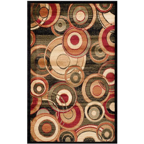 Safavieh Lyndhurst Decorative Rug - 3.3' x 5.3' - Black/Multi