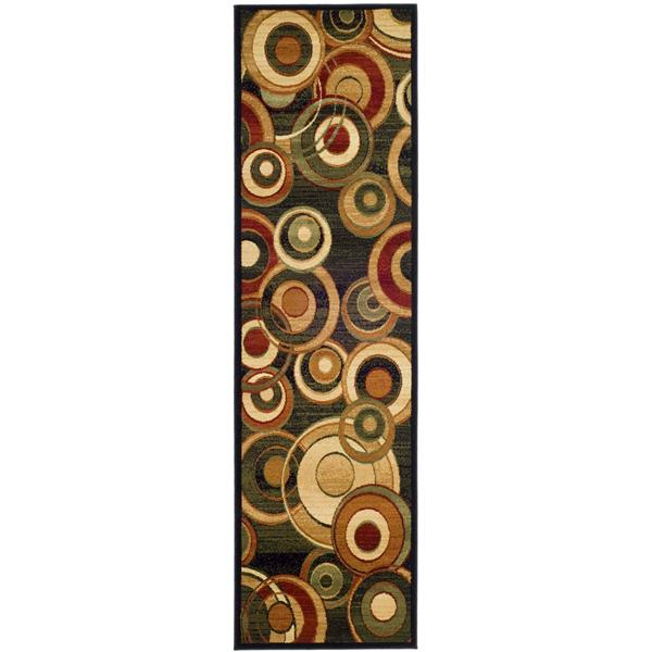 Safavieh Lyndhurst Decorative Rug - 2.3' x 16' - Black/Multi