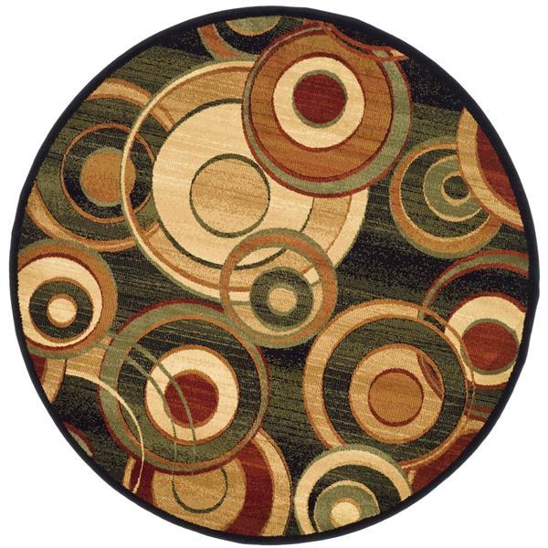 Safavieh Lyndhurst Decorative Rug - 5.3' x 5.3' - Black/Multi