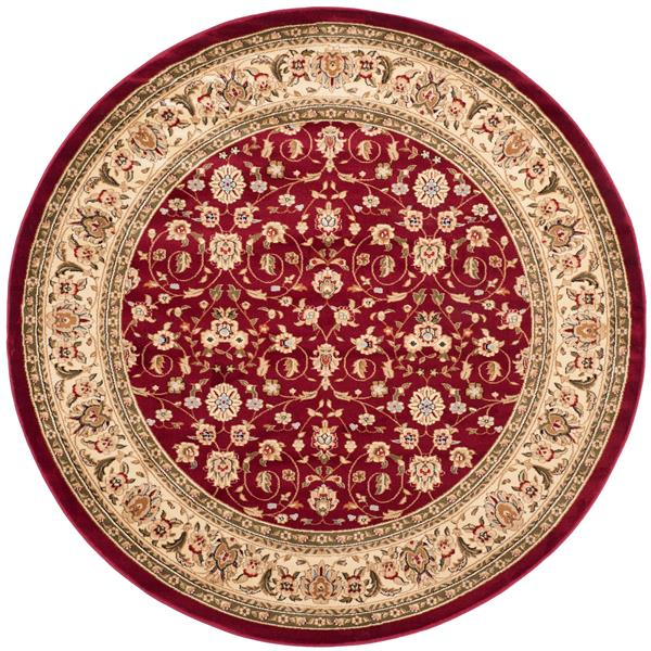 Safavieh Lyndhurst Decorative Rug - 5.3' x 5.3' - Red/Ivory