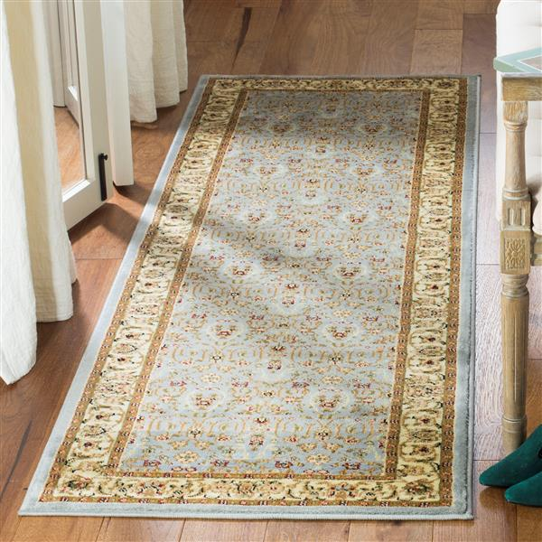 Safavieh Lyndhurst Decorative Rug - 2.3' x 12' - Light Blue/Ivory