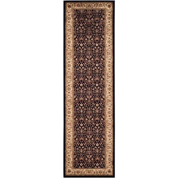 Safavieh Lyndhurst Decorative Rug - 2.3' x 14' - Black/Ivory