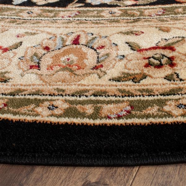 Safavieh Lyndhurst Decorative Rug - 5.3' x 5.3' - Black/Ivory